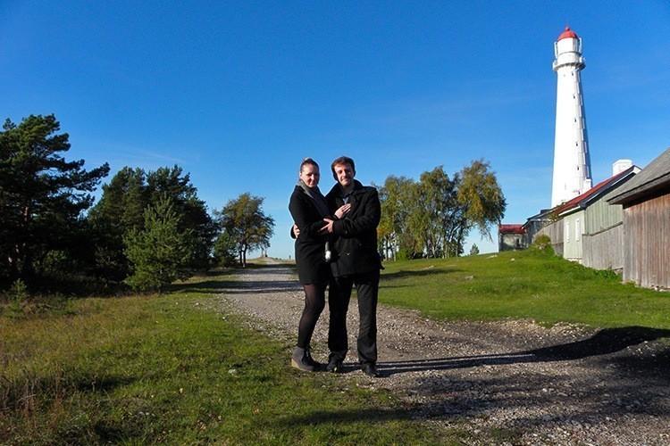 Марина и Костя Саморосенко на маяках Эстонии