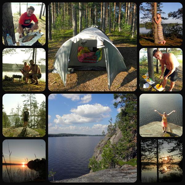 Отдых с палаткой в Финляндии