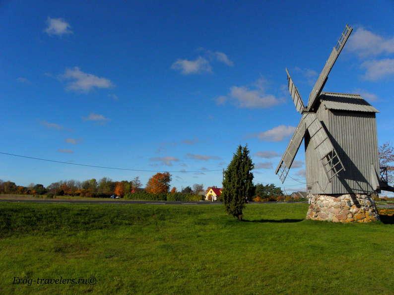 Мельницы в Эстонии. Мельницы острова Хийумаа. Мельница Валгу