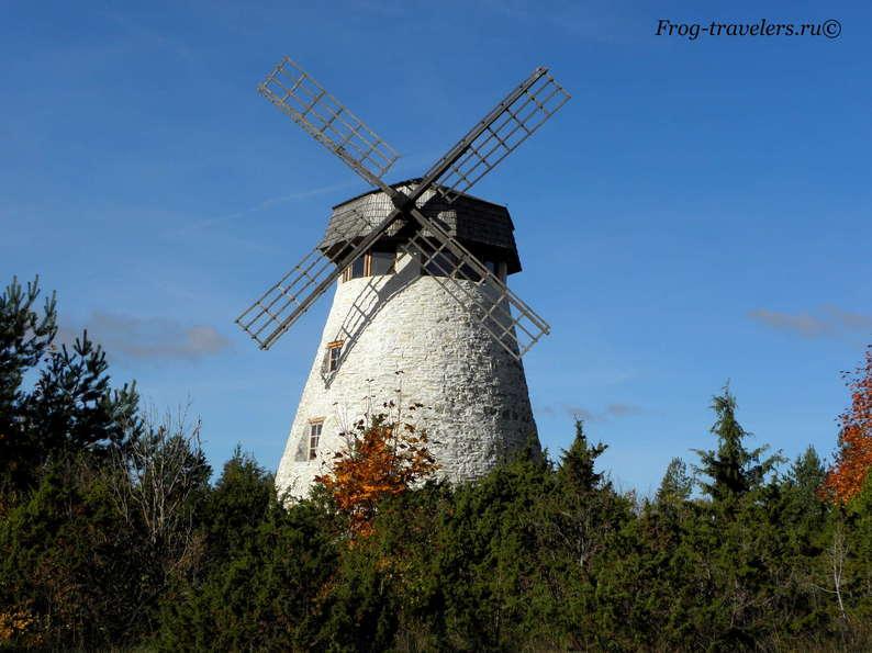 Мельницы в Эстонии. Мельницы острова Хийумаа. Мельница Кассари