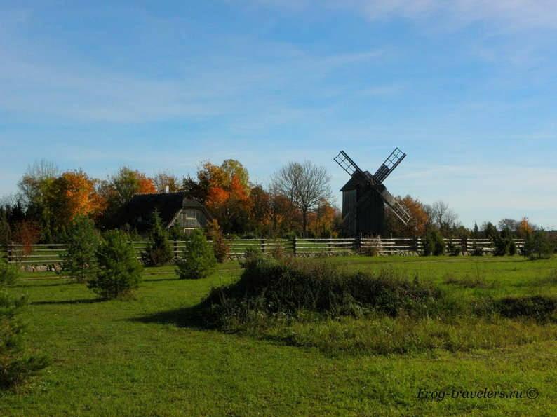 Мельницы в Эстонии. Мельницы острова Хийумаа. Мельница Орьяку