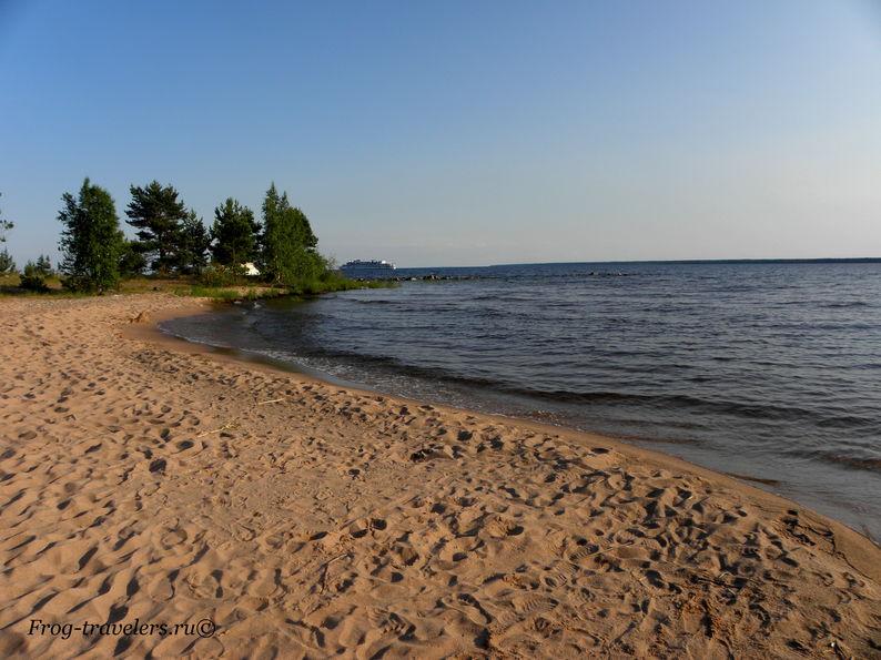 Пляжи Ладожского озера остров Коневец