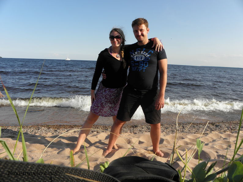 Марина и Костя Саморосенко на острове Коневец