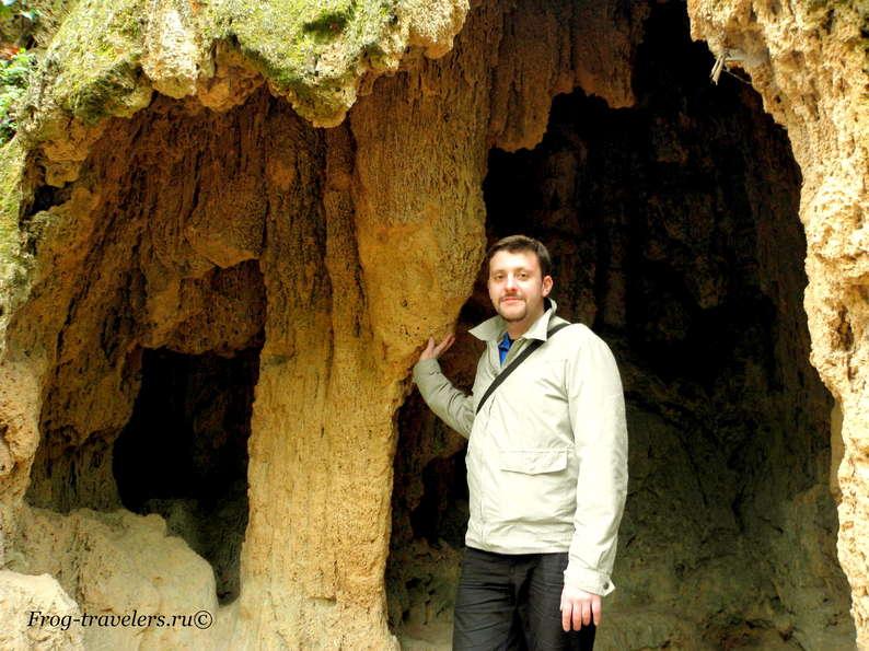 Костя Саморосенко в пещерах Испании