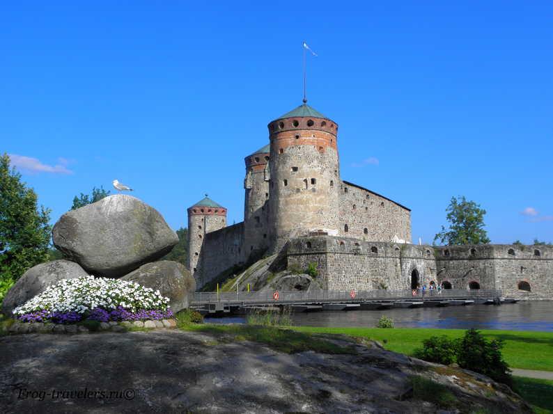 Финляндия Савонлинна замок Олафсборг фото