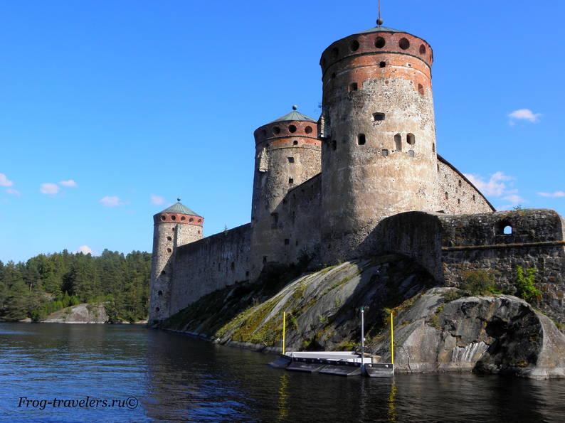 Финляндия Савонлинна замок Олавинлинна фото