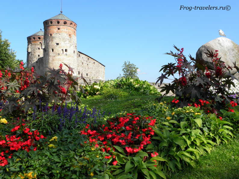 Крепость Олавинлинна Савонлинна Финляндия фото