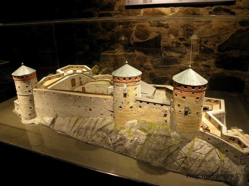 Макет крепости Олавинлинна