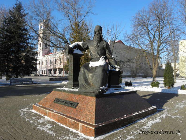 Достопримечательности Полоцка на карте. Памятник Симеону Полоцкому