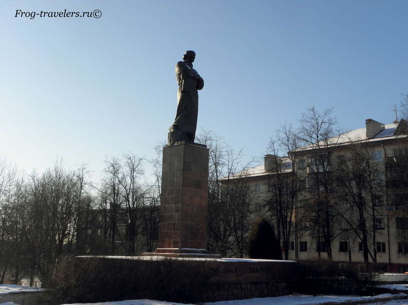 Достопримечательности Полоцка на карте. Памятник Франциску Скорине