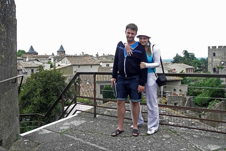Марина и Костя Саморосенко в Каркассоне