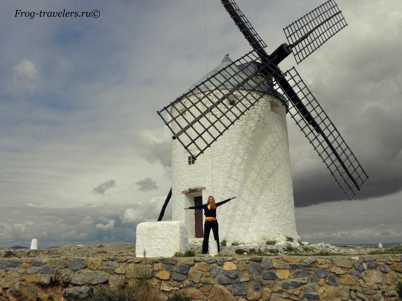 Ветряные мельницы Дон Кихота провинции Кастилия Ла-Манча Испания