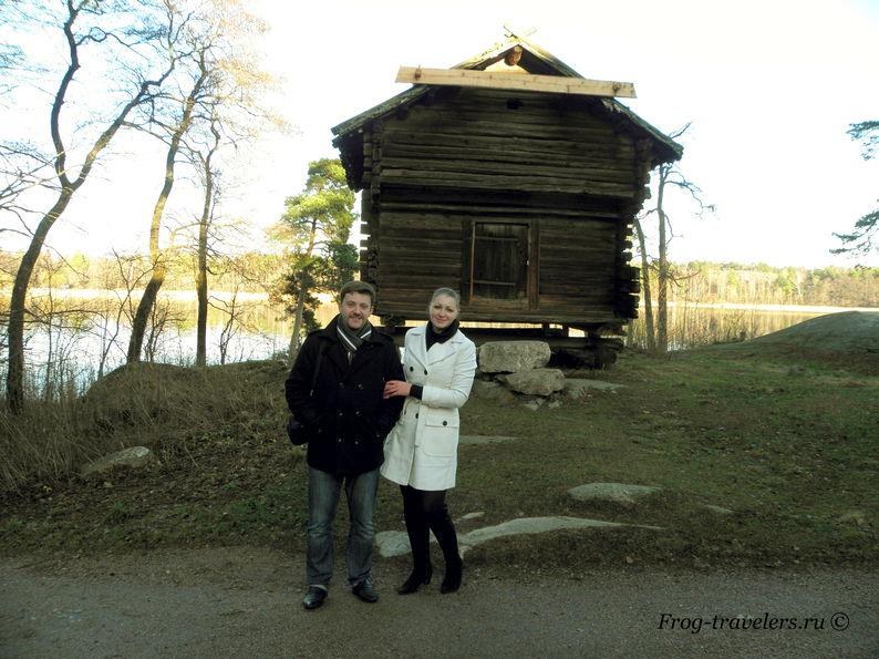 Костик и Марина Саморосенко в музее на острове Сеурасаари