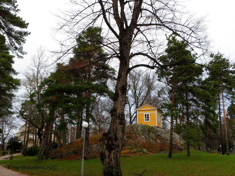 Домик на скале Финляндия