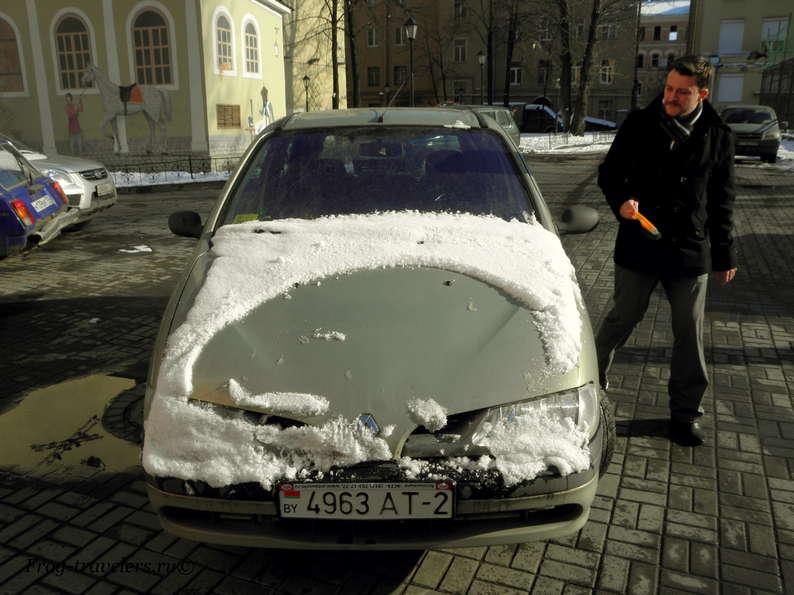 Сняли белорусские государственные номера в машине - что делать (фото+видео)?