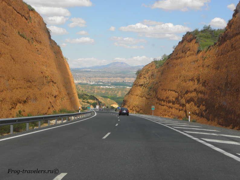 Пейзажи и дороги Испании