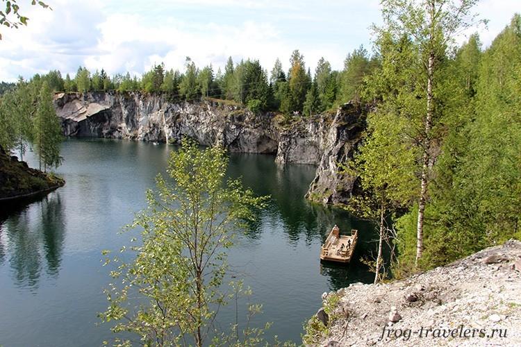 Мраморное озеро Рускеала