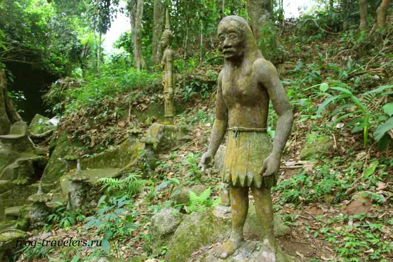 Человек в саду Будды