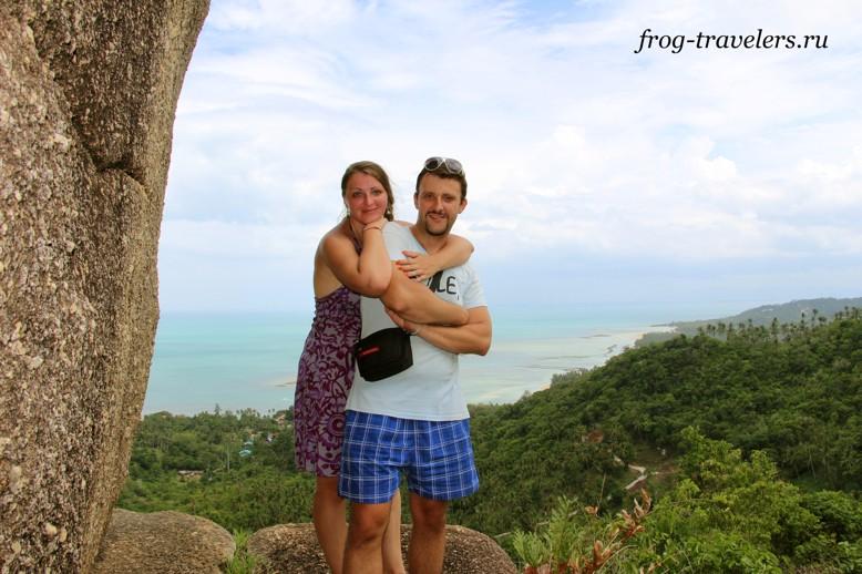 Марина и Костя Саморосенко на острове