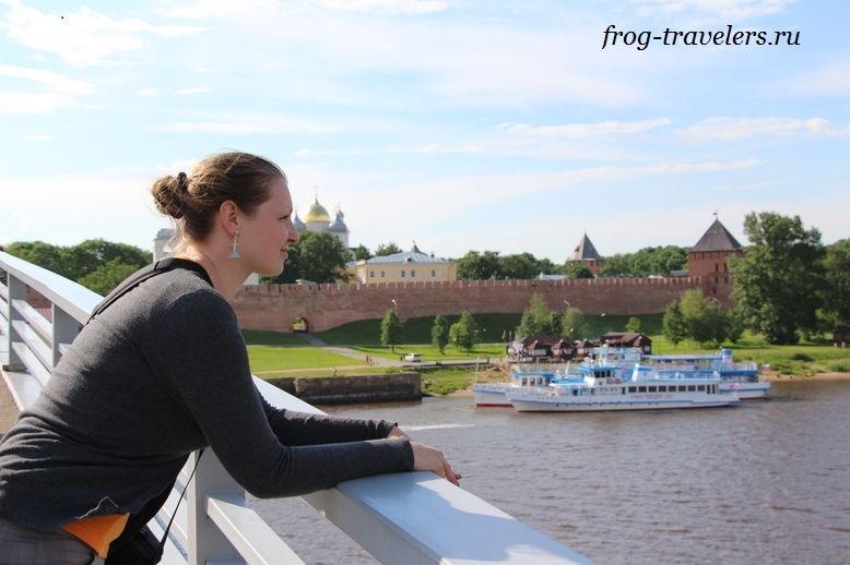 Марина Саморосенко любуется Великим Новгородом