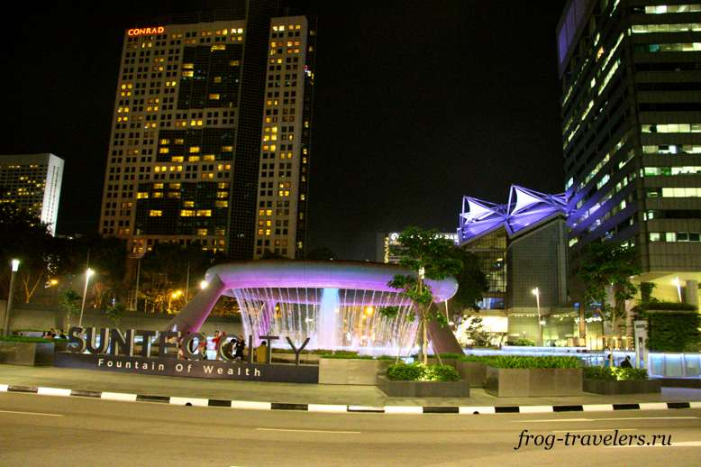 Фонтан Сингапур