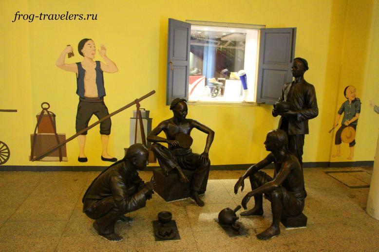 Скульптуры в Чайнатаун