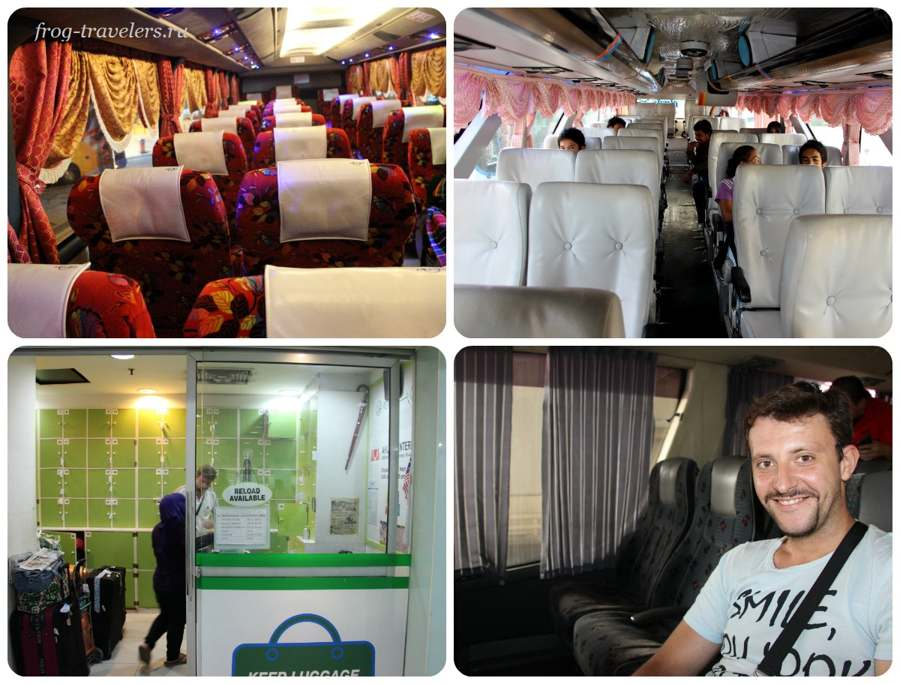 Автобус Куала-Лумпур-Сингапур-Малайзия-Тайланд