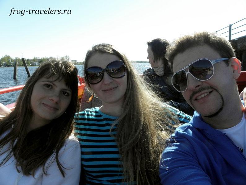 Мила Деменкова с Мариной и Костей Саморосенко