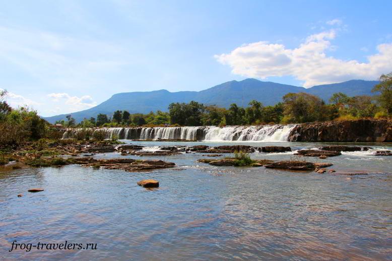 Водопад Tad Se Noi Waterfall на плато Болавен Лаос