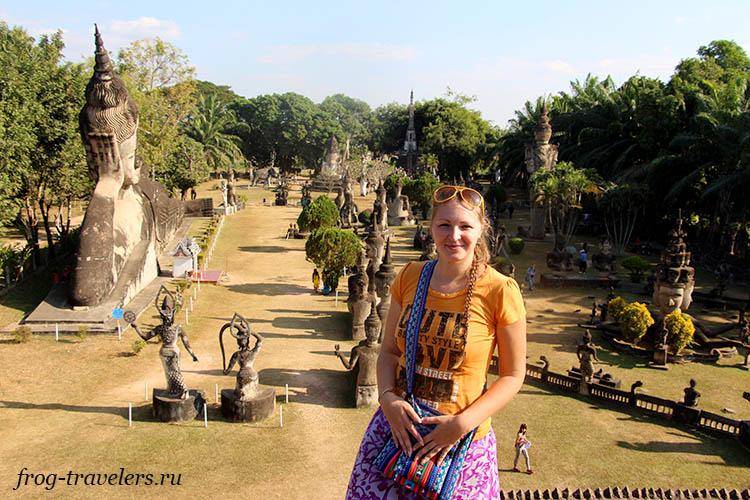 Марина Саморосенко в Лаосе