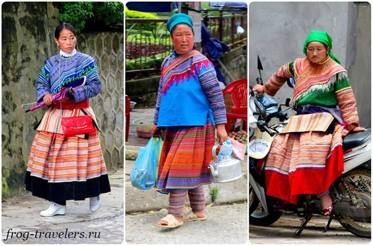 Цветочные хмонги север Вьетнама Лаокай
