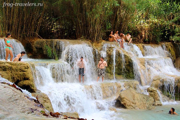 Водопад Куанг Си Луангпрабанг Лаос