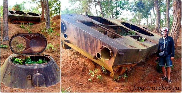 Русский танк в Лаосе