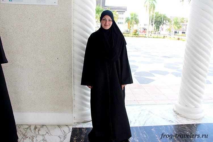 Марина Саморосенко в образе мусульманки