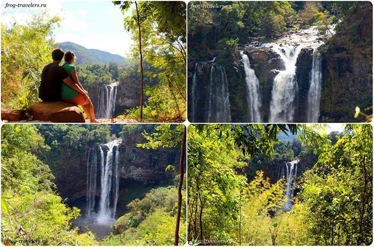Водопады плато Болавен Лаос