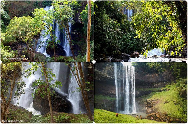 Водопады Лаос