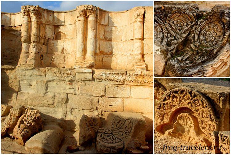 Руины дворца Хишам в Палестине