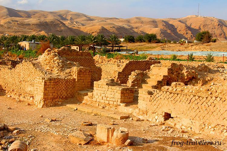 Руины зимнего дворца Ирода в Иерихоне
