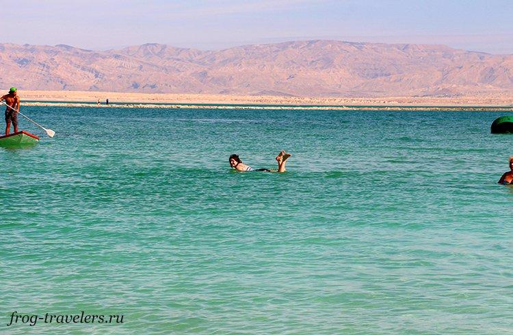 Марина Саморосенко на Мертвом море