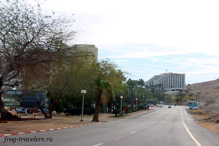 Отельный район курорта Неве Зоар