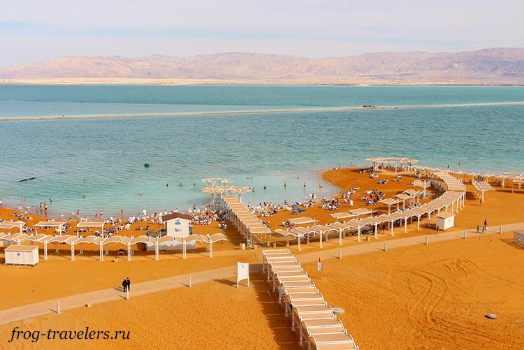 Пляжи Мертвого моря Израиль