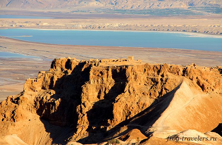 Крепость Масада над Мертвым морем
