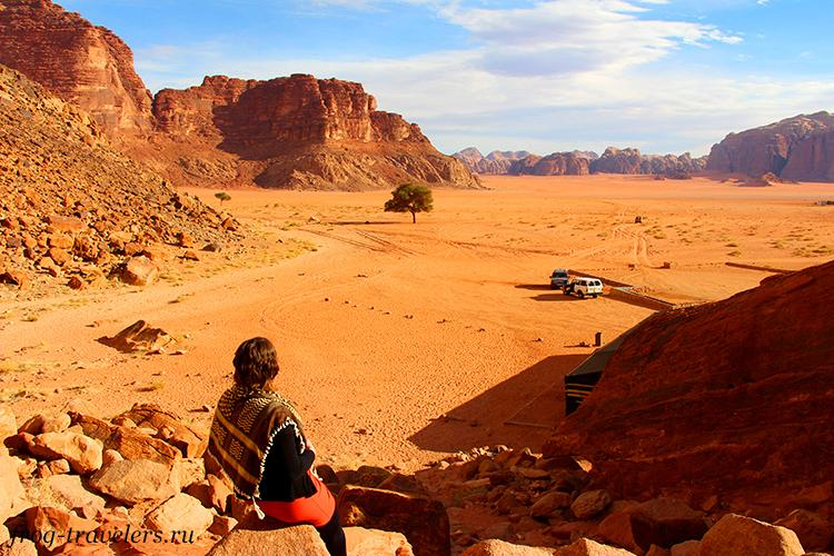 Марина Саморосенко в пустыне Вади Рам