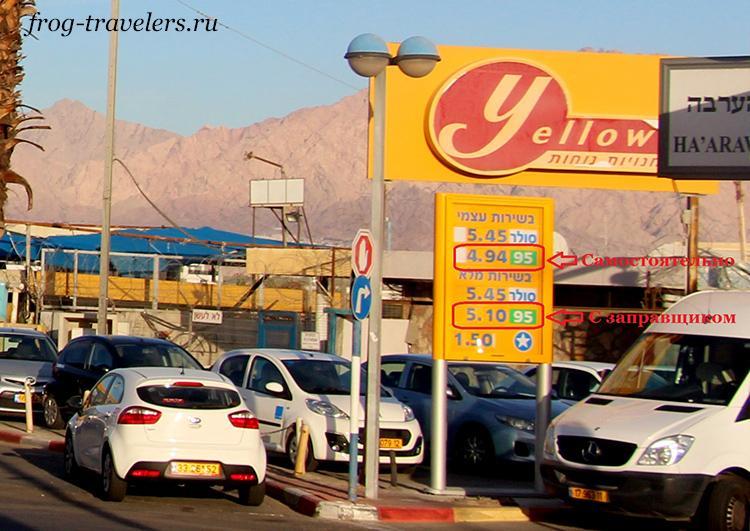 Цены на бензин в Израиле