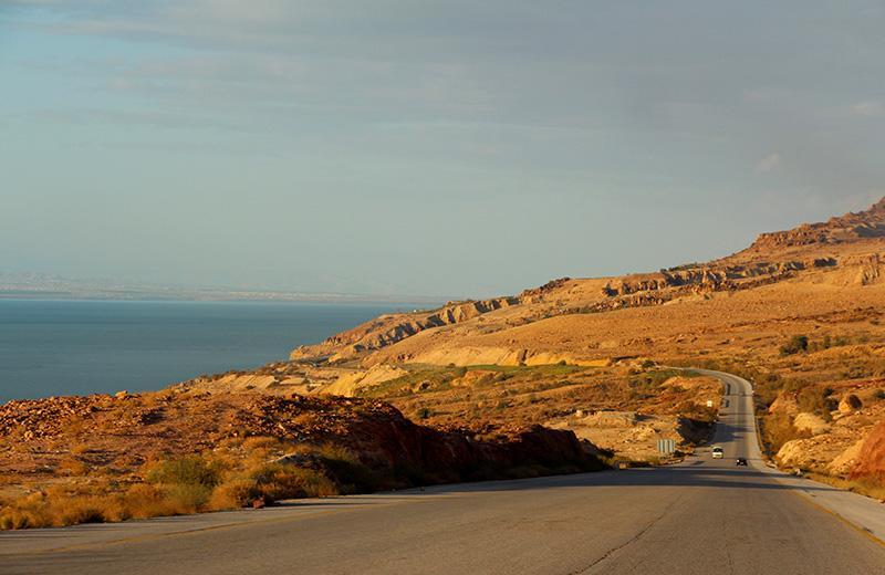 Шоссе вдоль Мертвого моря