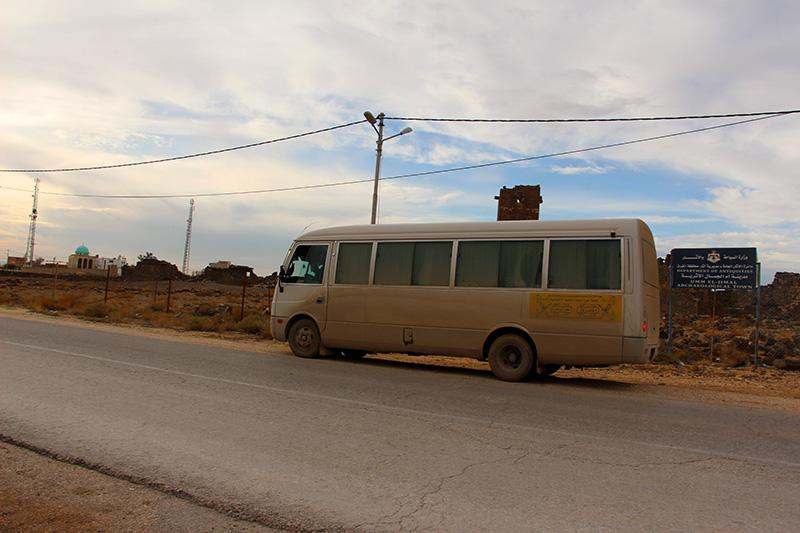 Дорога в поселке у границы с Сирией