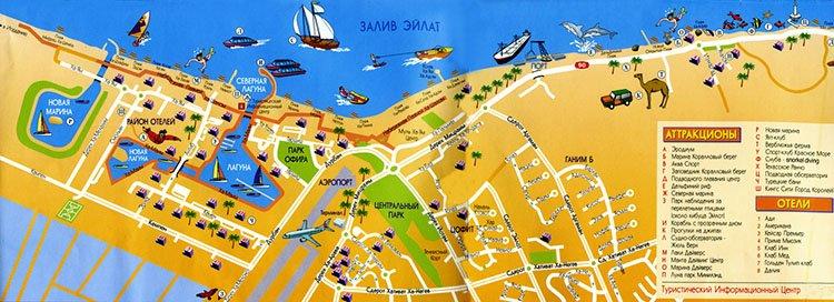 Карта Эйлата