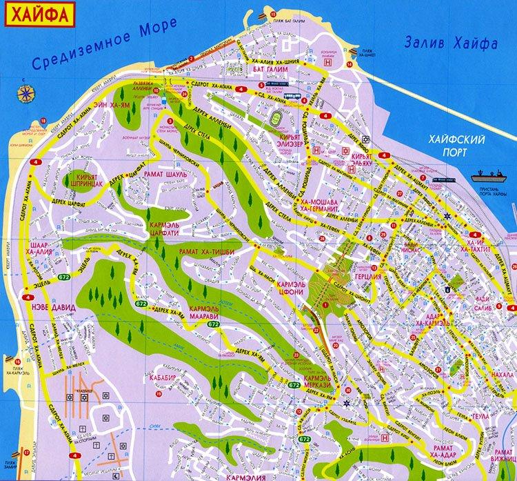 Карта Хайфы
