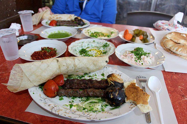 Цены в кафе Иордании