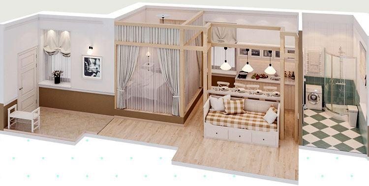 Схема апартаментов «Пастель»